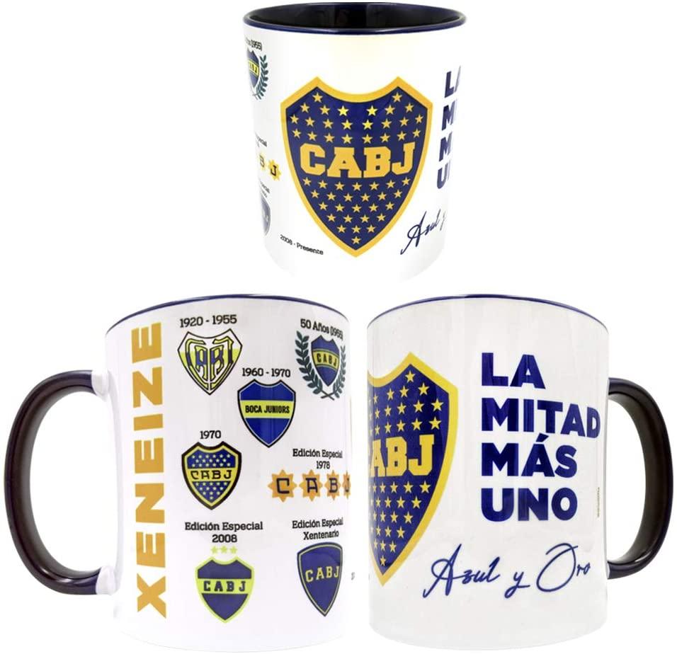 Gio Gifts Boca Juniors Mug La Mitad Mas Uno Taza Mate 11 Oz.