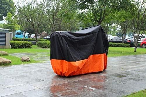 Black & Orange Motorcycle Cover for Harley FXST FXSTC SOFTAIL UV Dust Prevention XL