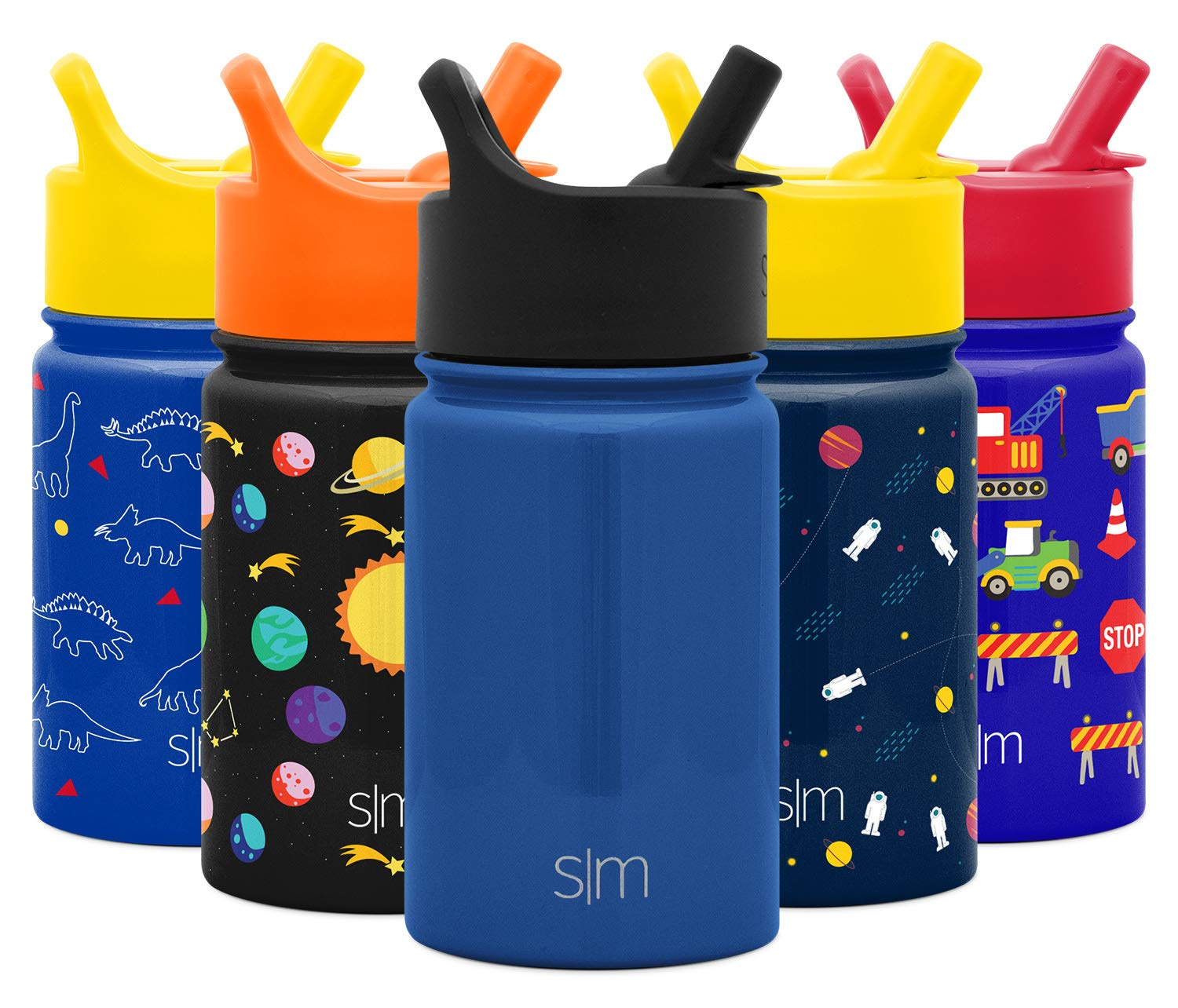 Simple Modern 10 oz Summit Kids Water Bottle with Straw Lid Sippy Cup - Hydro Vacuum Insulated Flask Double Wall Liter - 18/8 Stainless Steel -Twilight