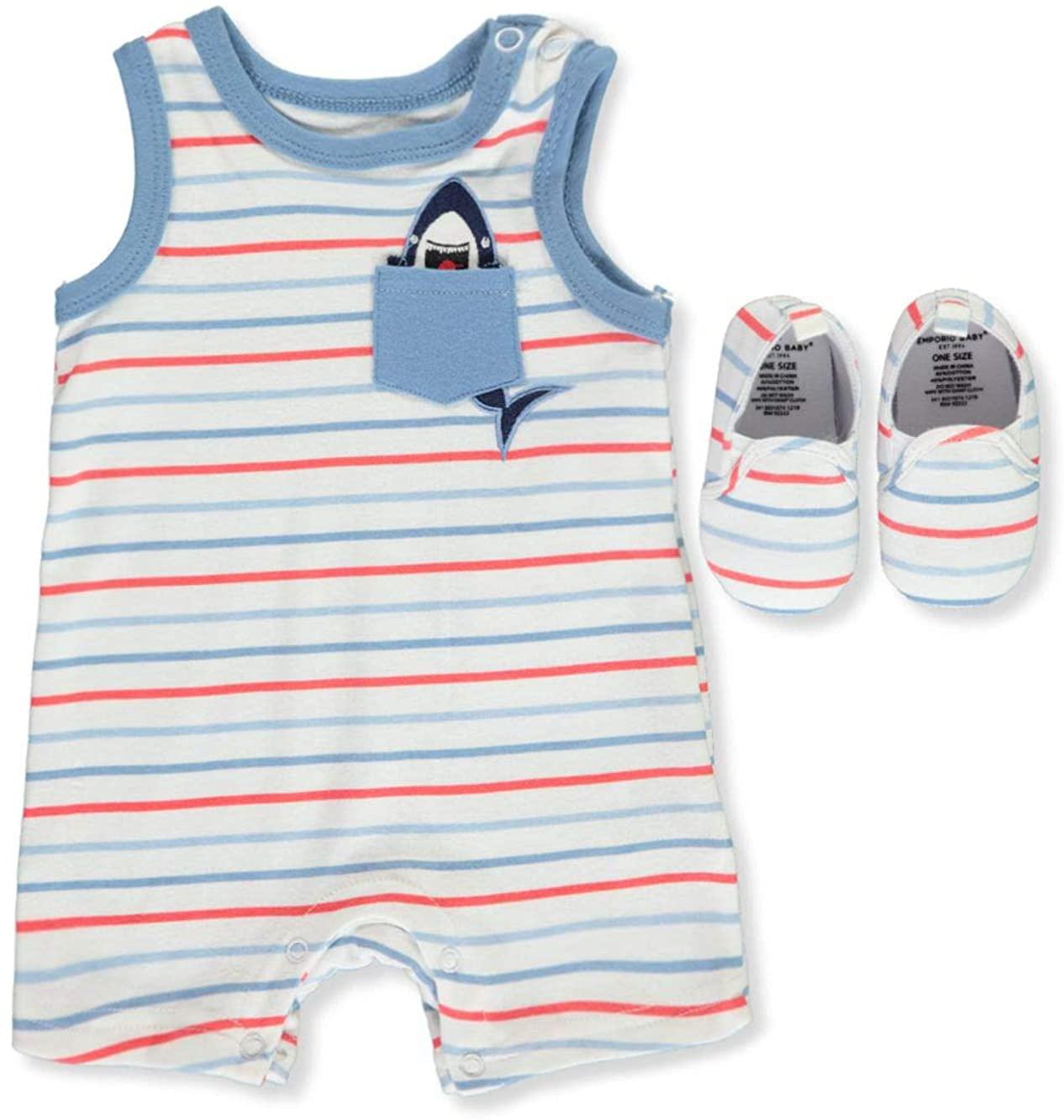 Emporio Baby Baby Boys' Shark Stripe 2-Piece Layette Set
