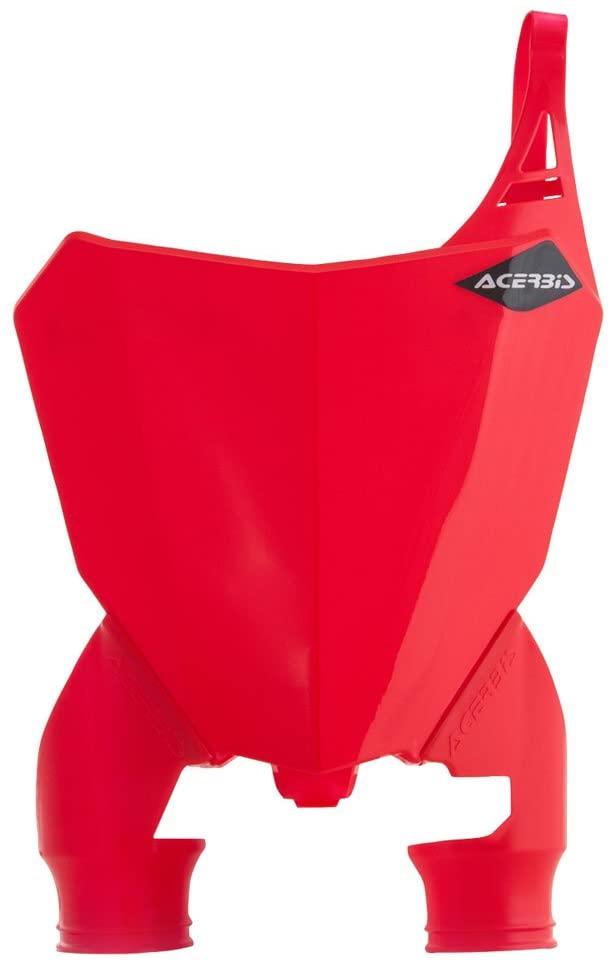 Acerbis Raptor Front Number Plate Red/Red - Fits: Honda CRF450RX 2017-2018