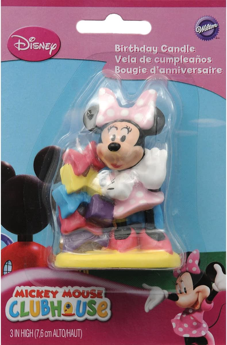 Wilton Disney Mickey Mouse Clubhouse Minnie Candle,Multicolor,small