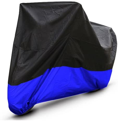 Black Blue Motorcycle Cover For Suzuki GS500F GS 500 F Bike UV Dust Protector M