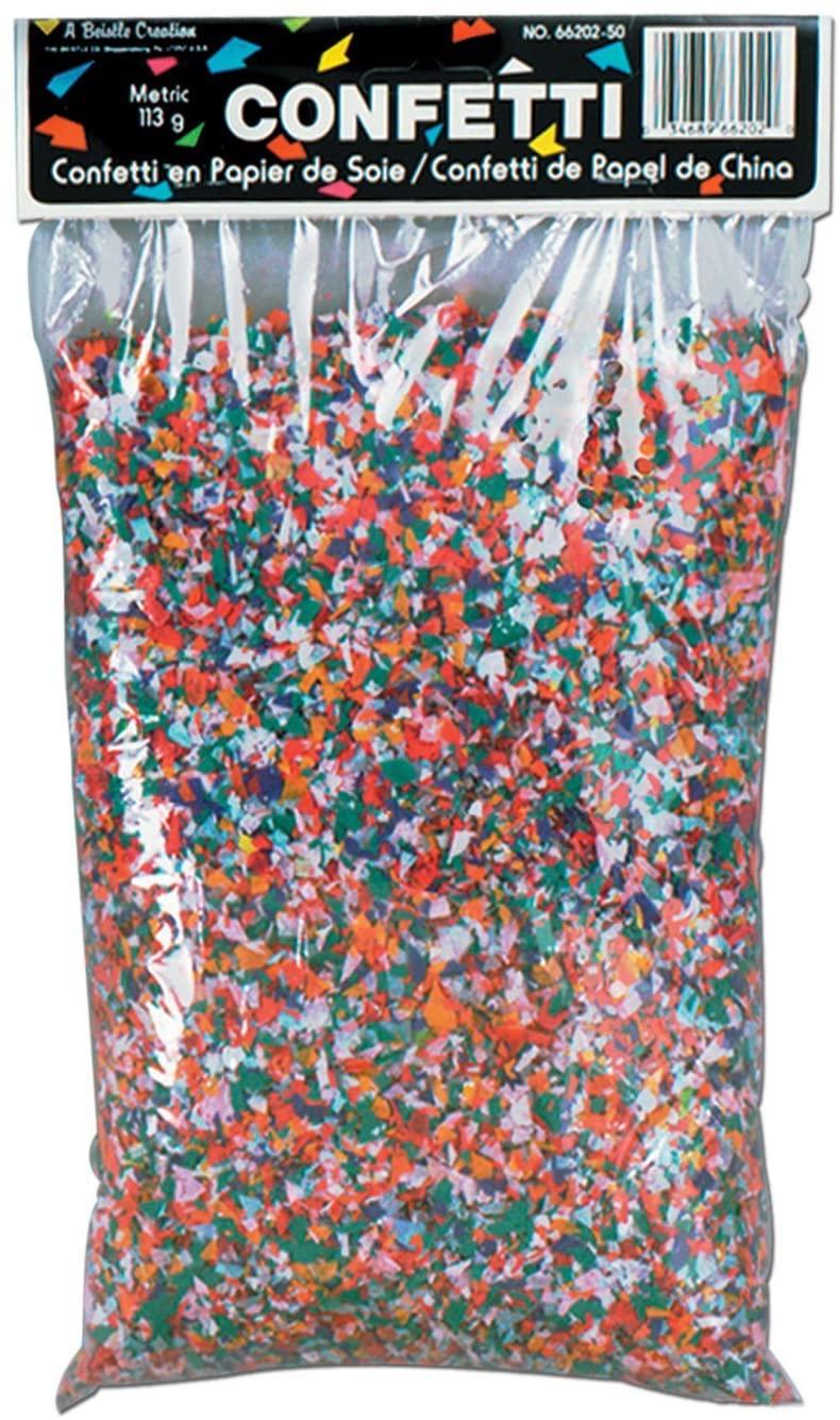 Beistle 66202-50 Tissue Confetti (50 Pack), 3.75 quart, Multicolor