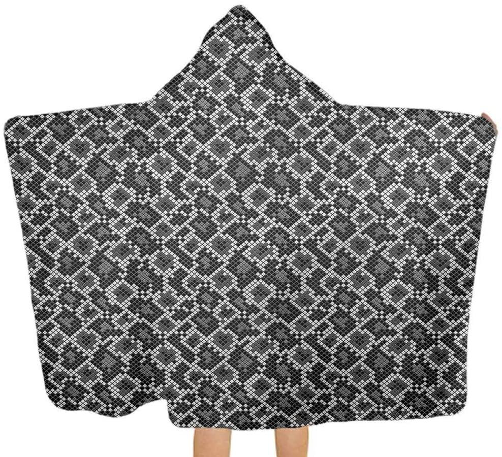 ThinkingPower Baby Bath Towels Reptile, Geometric Crocodile Skin Premium Ultra Soft Hooded Towel for Babies, Toddlers 51.5x31.8 Inch
