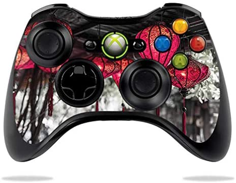 MightySkins Skin Compatible with Microsoft Xbox 360 Controller - Red Lanterns   Protective, Durable, and Unique Vinyl Decal wrap Cover   Easy to Apply, Remove, and Change Styles   Made in The USA