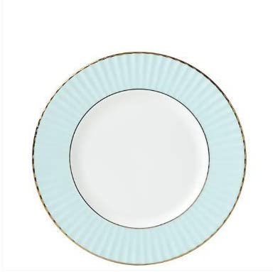 Lenox Pleated Colors Aqua Salad Plate, 0.70 LB, Blue