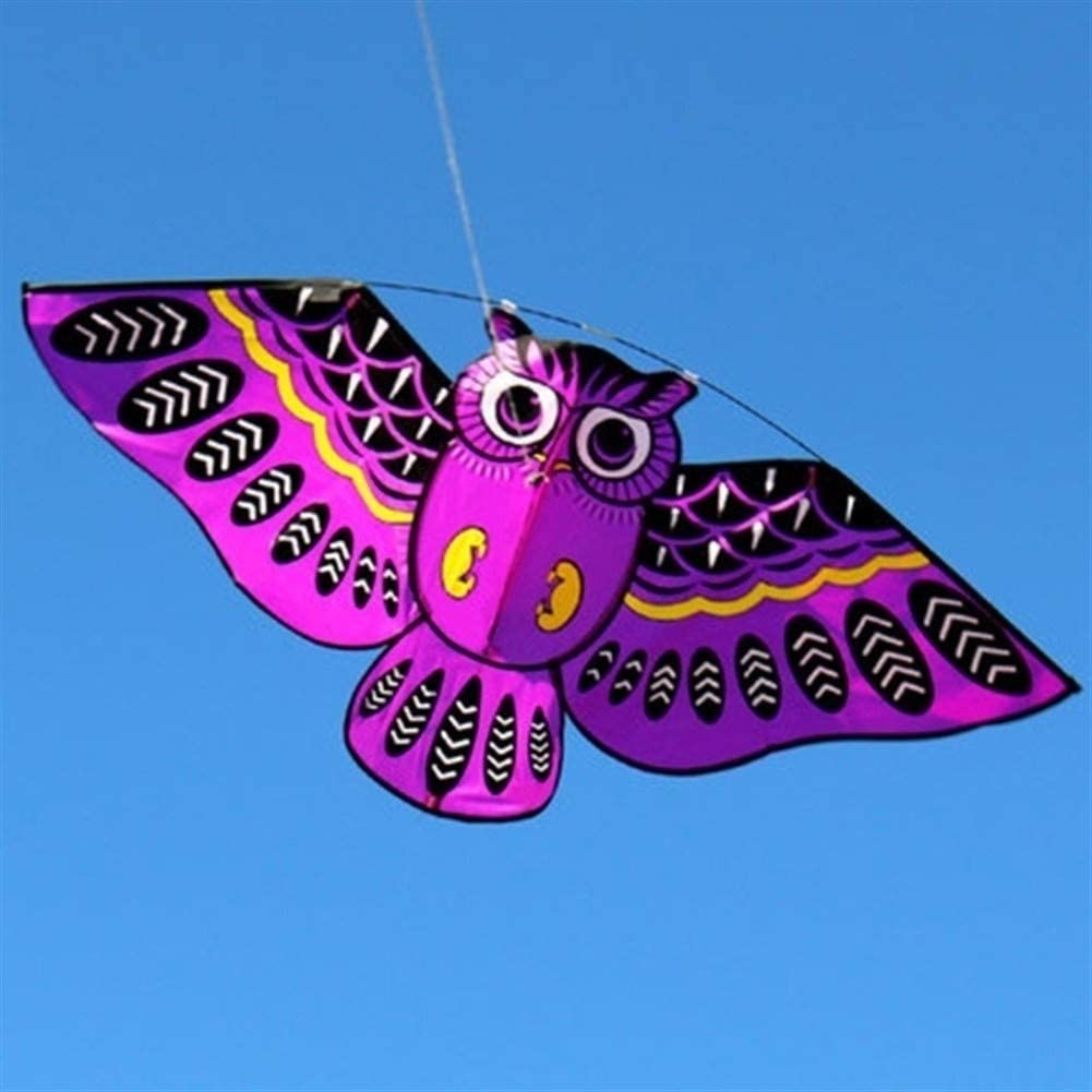 ARONG Interesting 2020 Kite, Kids Kite Colorful Kites for Kids Easy to Fly for Beach Outdoor New Cartoon Owl Flying Suitable for Beach or Park (Color : Green)