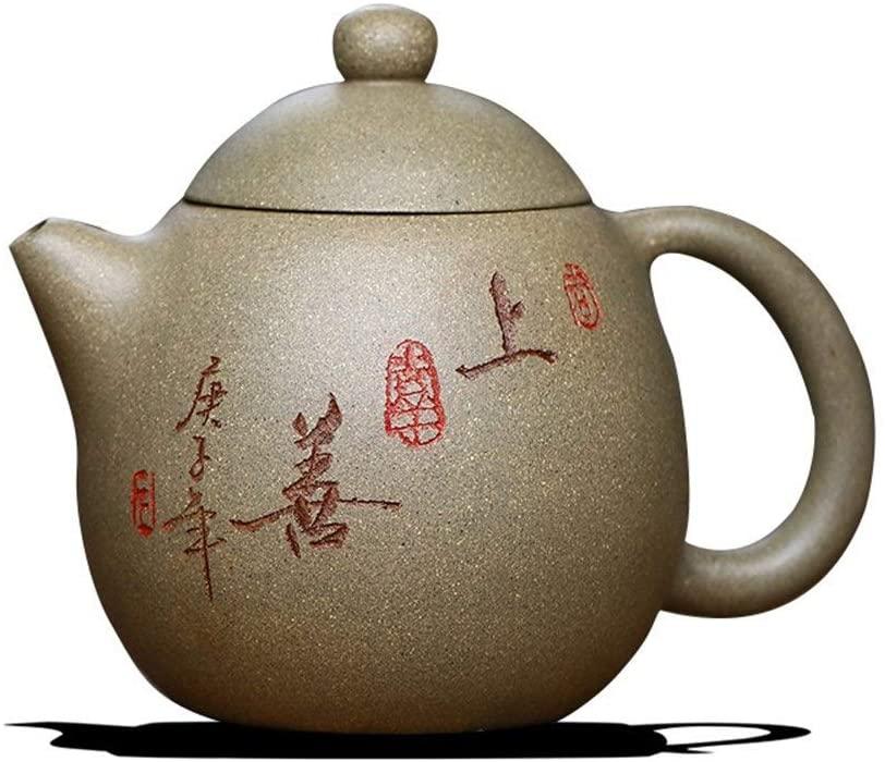Bin Zhang Teapot, Kung Fu Tea, pure hand-ore segment mud pot dragon eggs (Color : Beige)