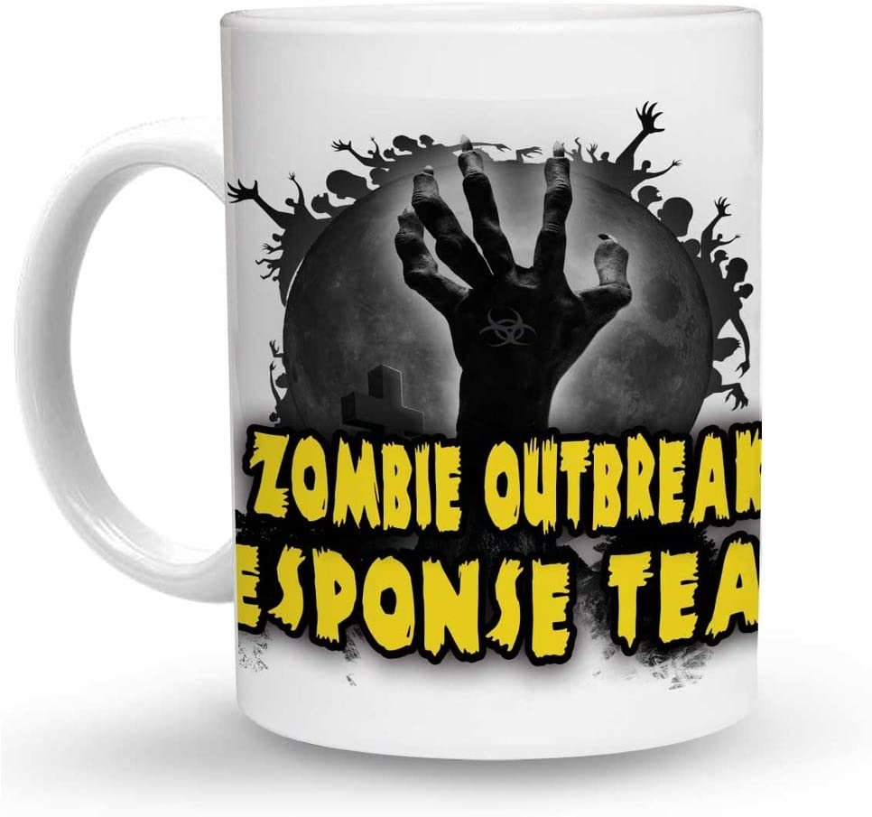Makoroni - ZOMBIE OUTBREAK RESPONSE TEAM Zombie 6 oz Ceramic Espresso Shot Mug/Cup Design#85