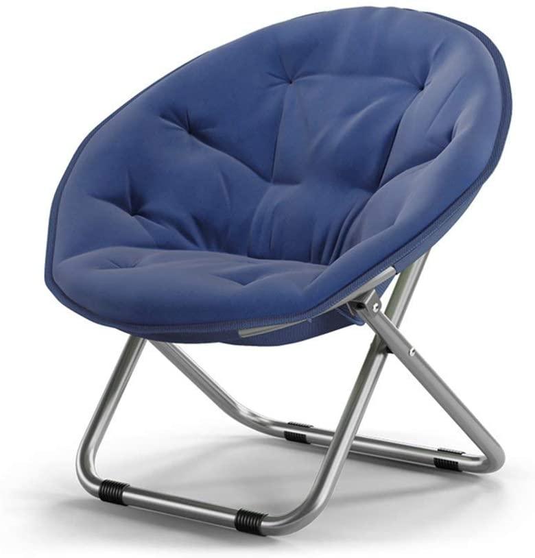 QQXX Foldable Moon Chair Chair Lazy Chair Recliner Round Chair Sofa Chair backrest (Color : B)