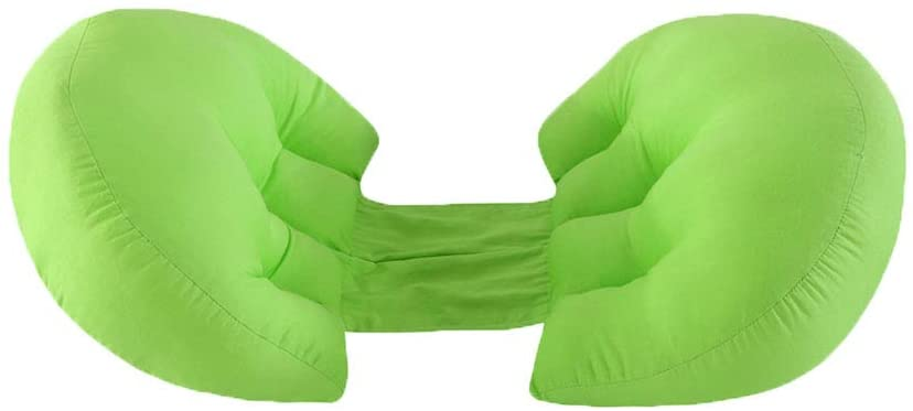 DOMIRE Maternity Pregnancy Pillow H Shape Multifunction Side Sleeping Pillow Waist and Abdomen Support Tool Bed Accessories Travel Supplies Green