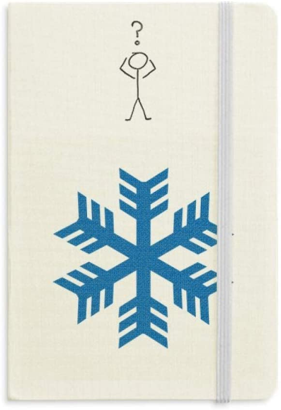 Blue Snowflake Winter Sport Silhouette Question Notebook Classic Journal Diary A5
