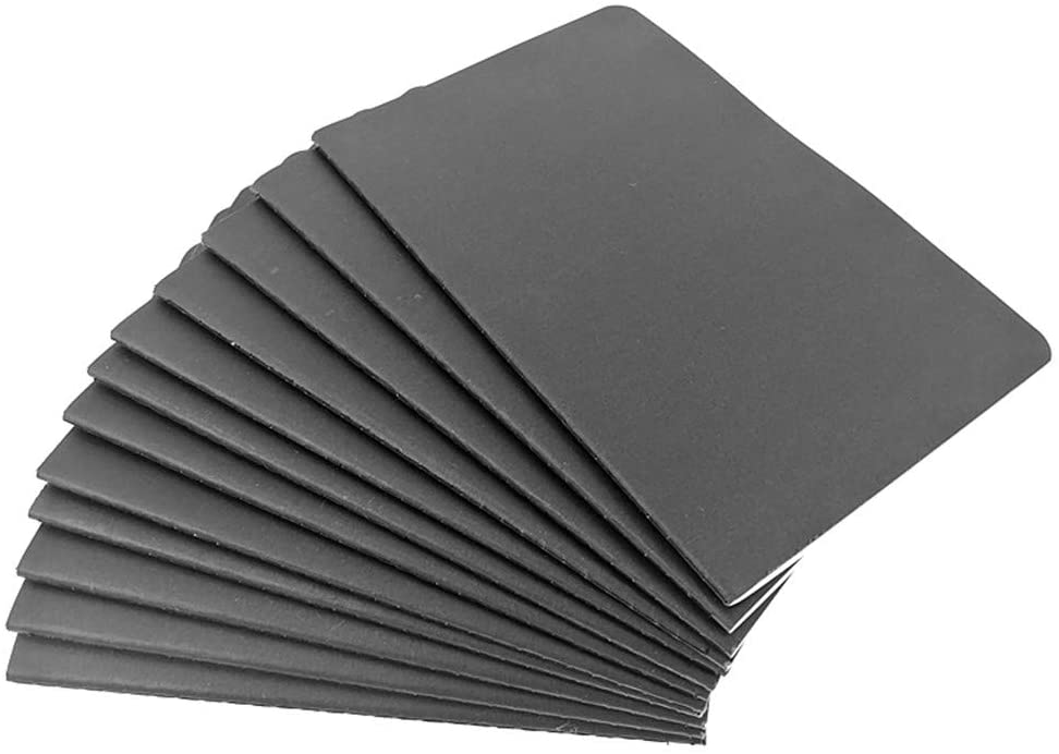 Kinteshun Notebook Journal,Black Kraft Cover Thread-bound Diary Memo Notepad Notebook,A5 Size&30 sheets(12pcs,Ruled Pages)