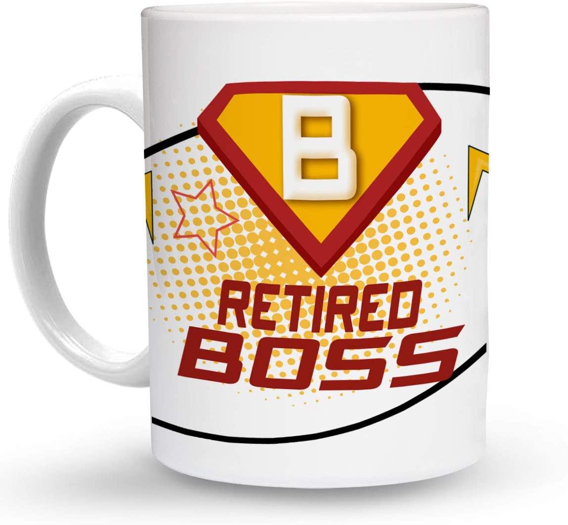 Makoroni - RETIRED BOSS Career 6 oz Ceramic Espresso Shot Mug/Cup Design#98
