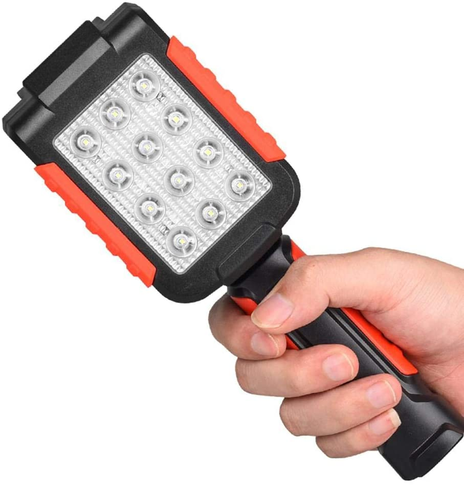 CDKZK Portable LED Work Light USB Rechargeable Work Lamp with Magnetic Base Folding Torch 3 Mode Flashlight
