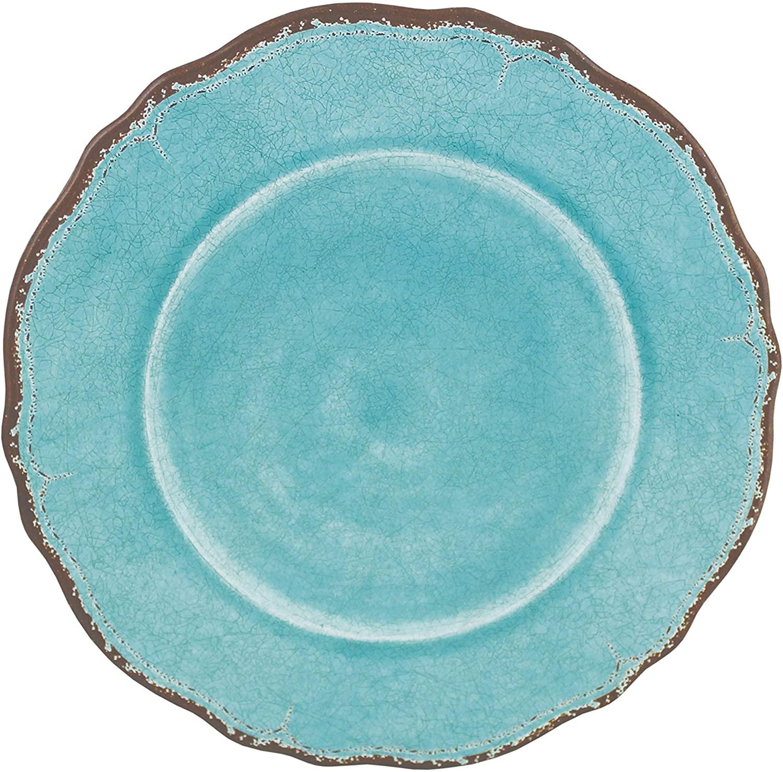 Le Cadeaux Antiqua Turquoise - Dinner Plate - Set of 4