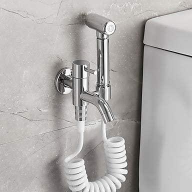 KOiTK Bidet Faucet Chrome Toilet Handheld Bidet Sprayer Contemporary