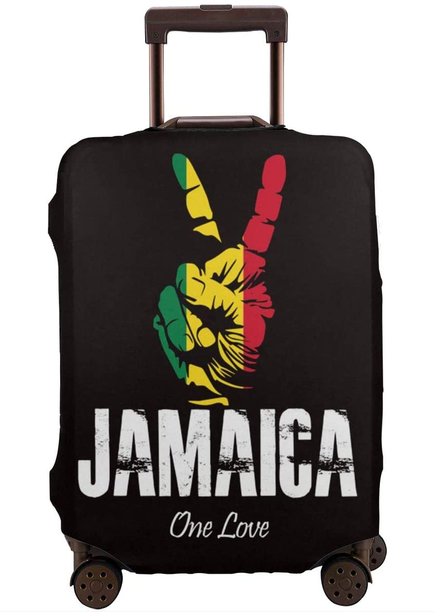 Travel Luggage Cover Jamaica One Love Suitcase Cover Protector Fits 18-32 Inch Luggage Baggage Cover