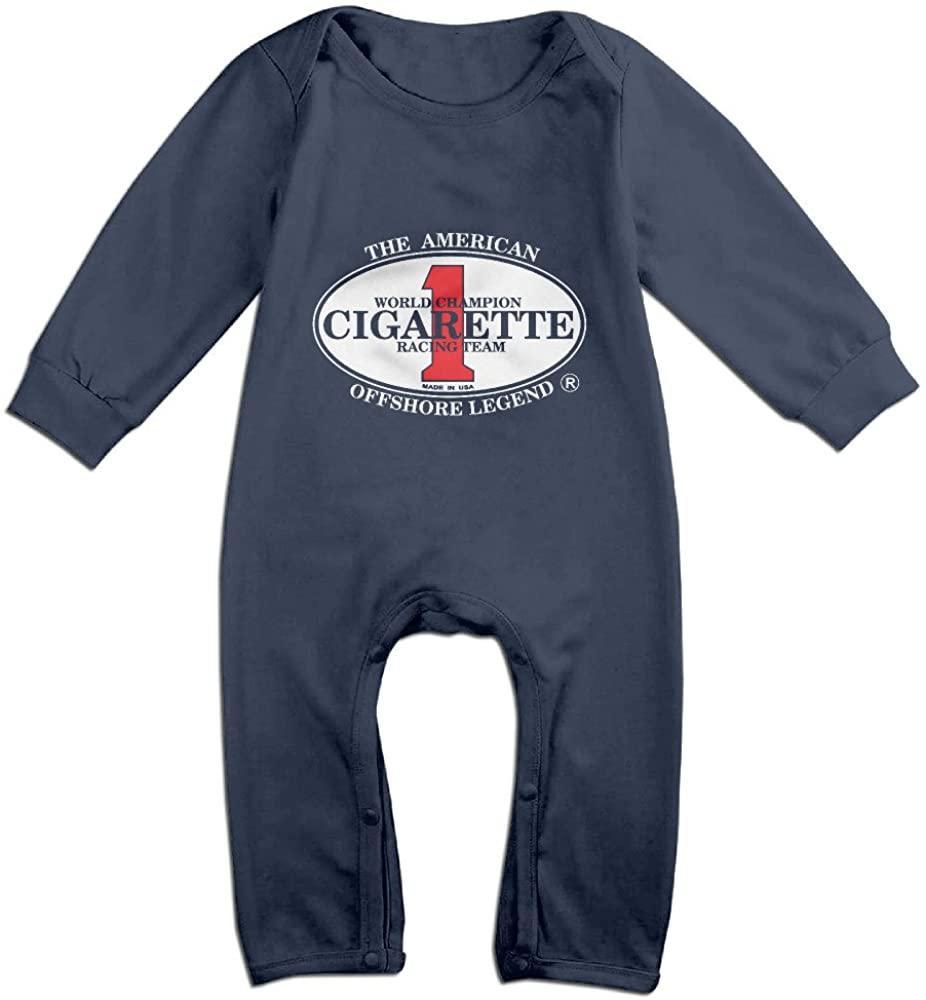 Cute Cigarette Racing Team Logo Romper For Infant Navy