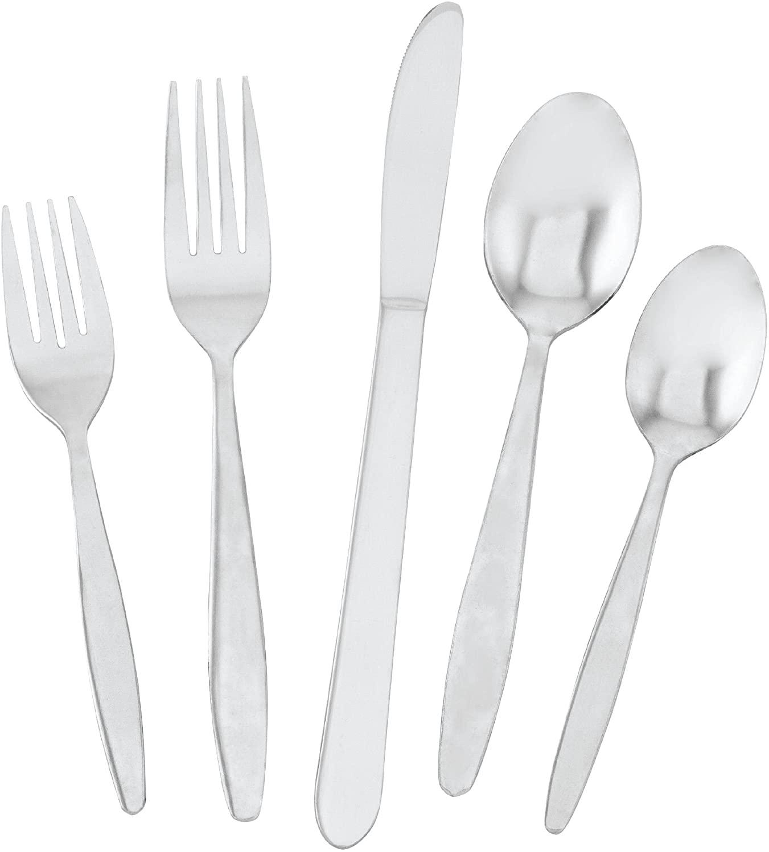 Utica Cutlery 813340 Streamline Flatware Set, 40 Piece (Service For Eight), Stainless