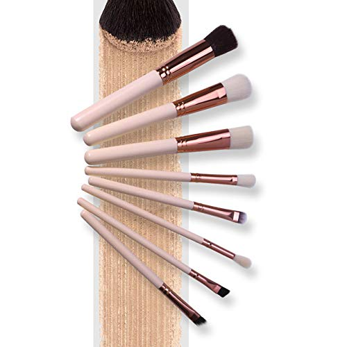 Makeup Brushes Set Professional - 8Pcs - Foundation Blending Blush Concealer Eye Shadow Cruelty-Free Synthetic Face Liquid Powder Cream Cosmetics Brushes