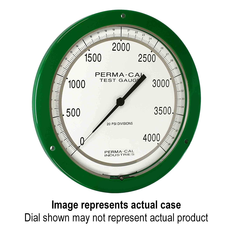 Pressure Gauge, Gearless, Test, 0-1500 psi, 8.5