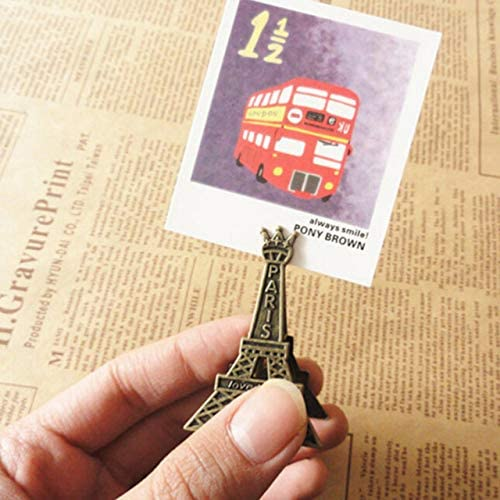 Clips Effiel Tower Paris Metal Memo Paper Clips for Message Decoration Photo Office Supplies Accessories - (Color: as Picture)