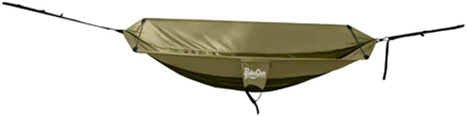 PahaQue Single Camping Hammock with Ergonomic Spreader Bar, Straps, and Carry Bag Included