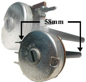 Electronics123.com, Inc. RES 100K Rotary Potentiometer Log