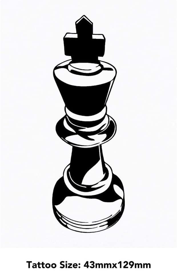 Azeeda Large 'King Chess Piece' Temporary Tattoo (TO00023087)