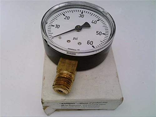 WIKA 111.10-2.5-60-1/4-LM 0/400 KPA, Discontinued by Manufacturer, Pressure Gauge, 1/4 in NPT, 0-60P SI