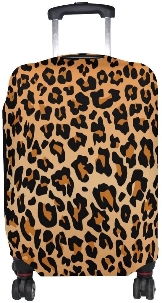Cooper girl Tiger Skin Travel Luggage Cover Suitcase Protector Fits 23-26 Inch