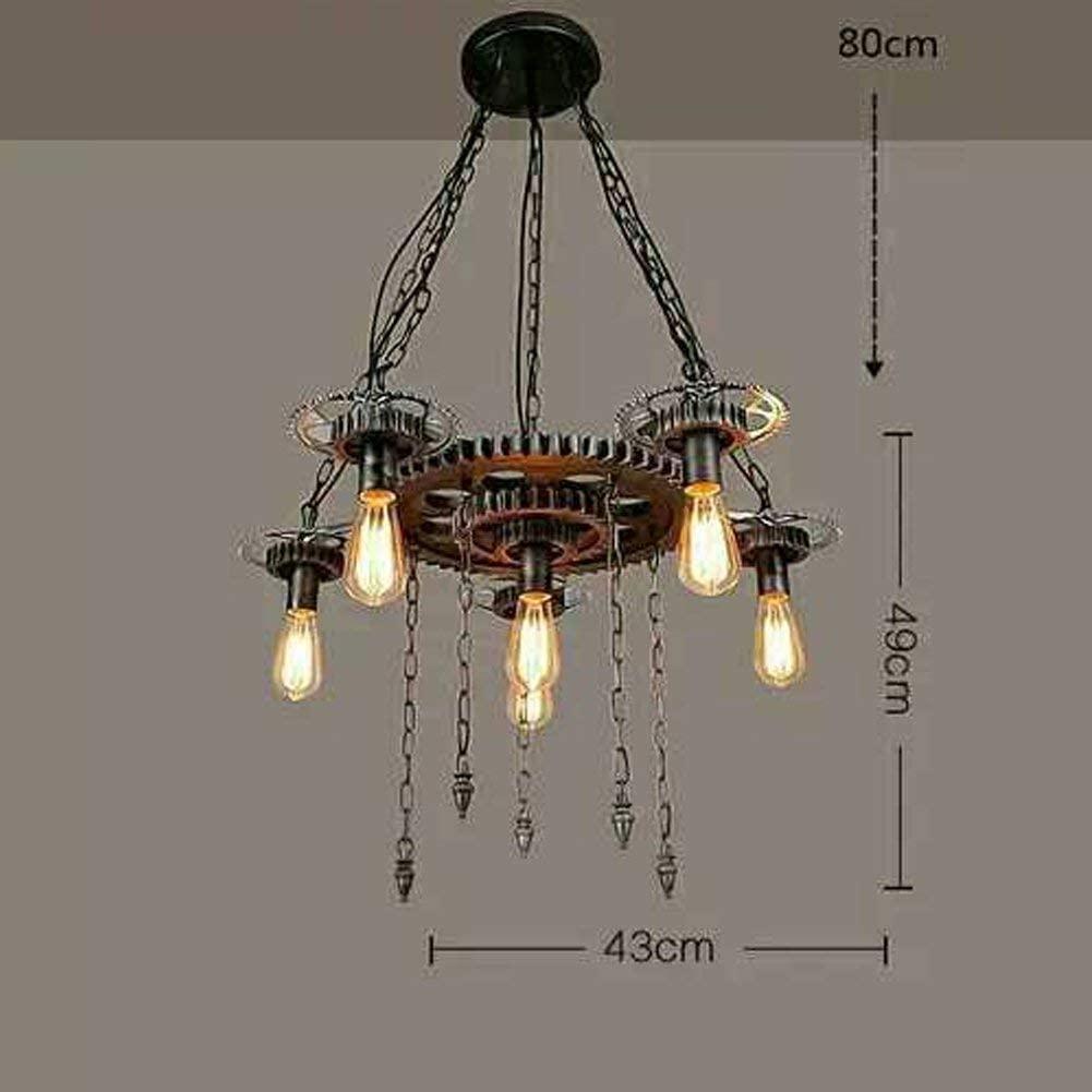 BOSSLV Industrial Pendent Lamp Creative Iron Rope Glass Resin 3-Lights Chandelier Art Loft Bar Hanging Lamp Parlor Dining Hall Restaurant Study Decorative Indoor Lighting L52Cm E27