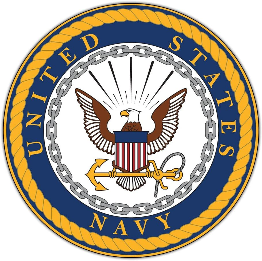 Crazy Sticker Guy Giant Size Magnet - United States Navy Official Seal (USN Military) - Doors, Tailgates, Cars, Trucks - Huge 11.5