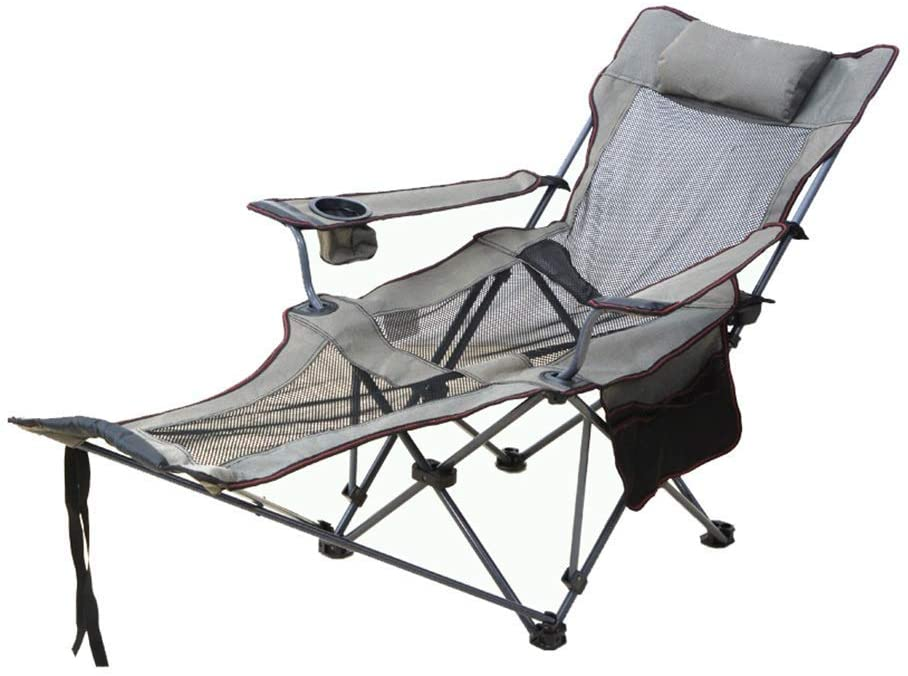 QQXX Folding Reclining Chair Folding Chair Camping Portable Zero Gravity Chair Outdoor Yard Bench Pool Side with Pillow and Cup Holder Home Office Balcony Lounge Chair Fishing Chair Zero Gravity Cha
