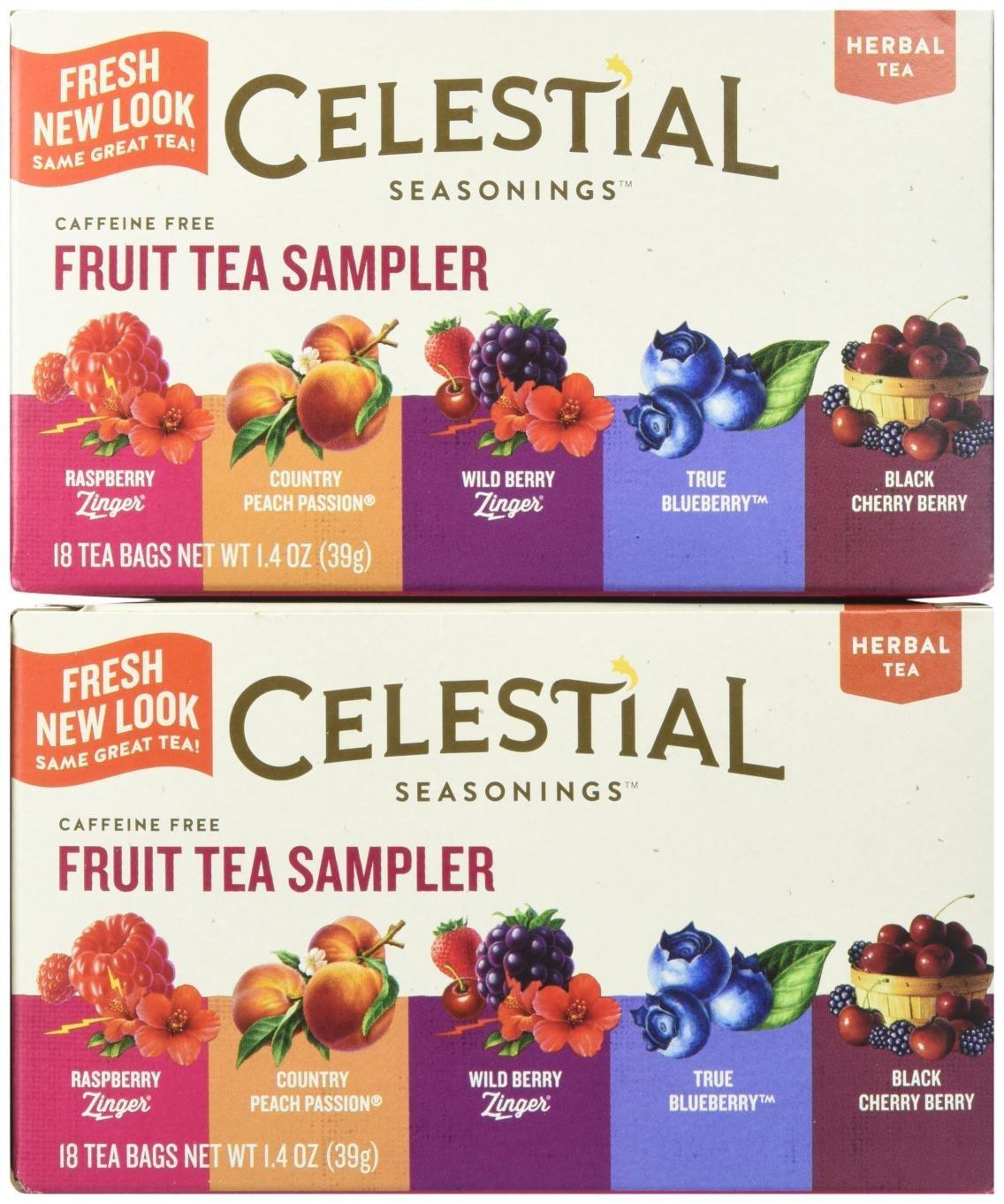 Celestial Seasonings Fruit Tea Sampler Tea Bags, 18 ct, 2 pk