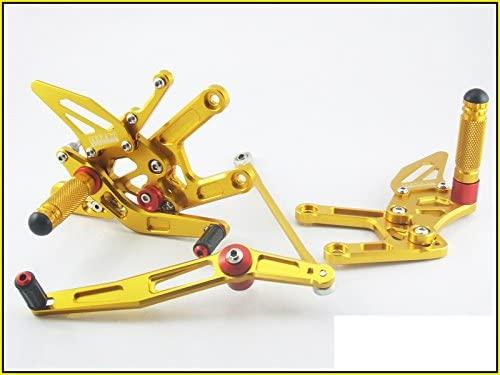 2008-2010 Suzuki GSX-R600 Area 22 CNC Adjustable Rear Sets Gold Rearset GSXR600