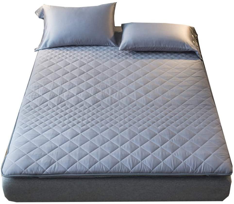 JY&WIN Sleeping Tatami,Premium Mattress Topper,Traditional Japanese Floor Futon Mattress Cool Breathable Guest Mattress All Seasons-Gray King