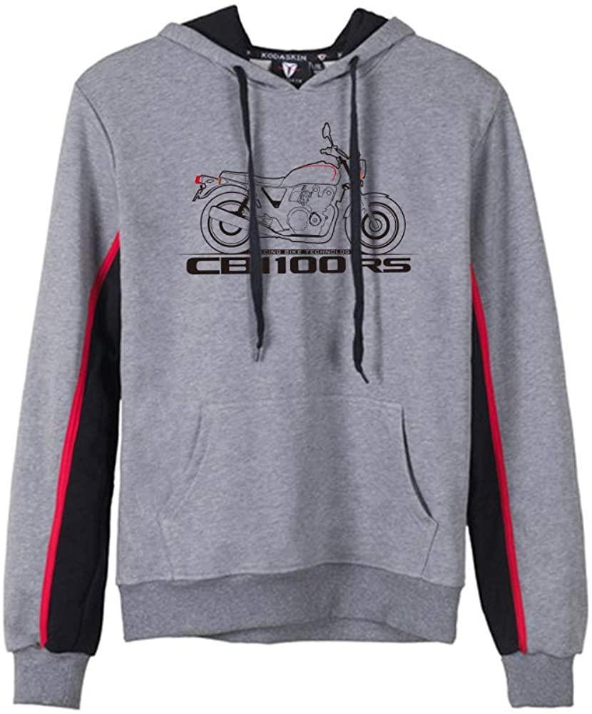 PRO-KODASKIN Men Cotton Round Neck Casual Printing Sweater Sweatershirt Hoodies for CB1100RS