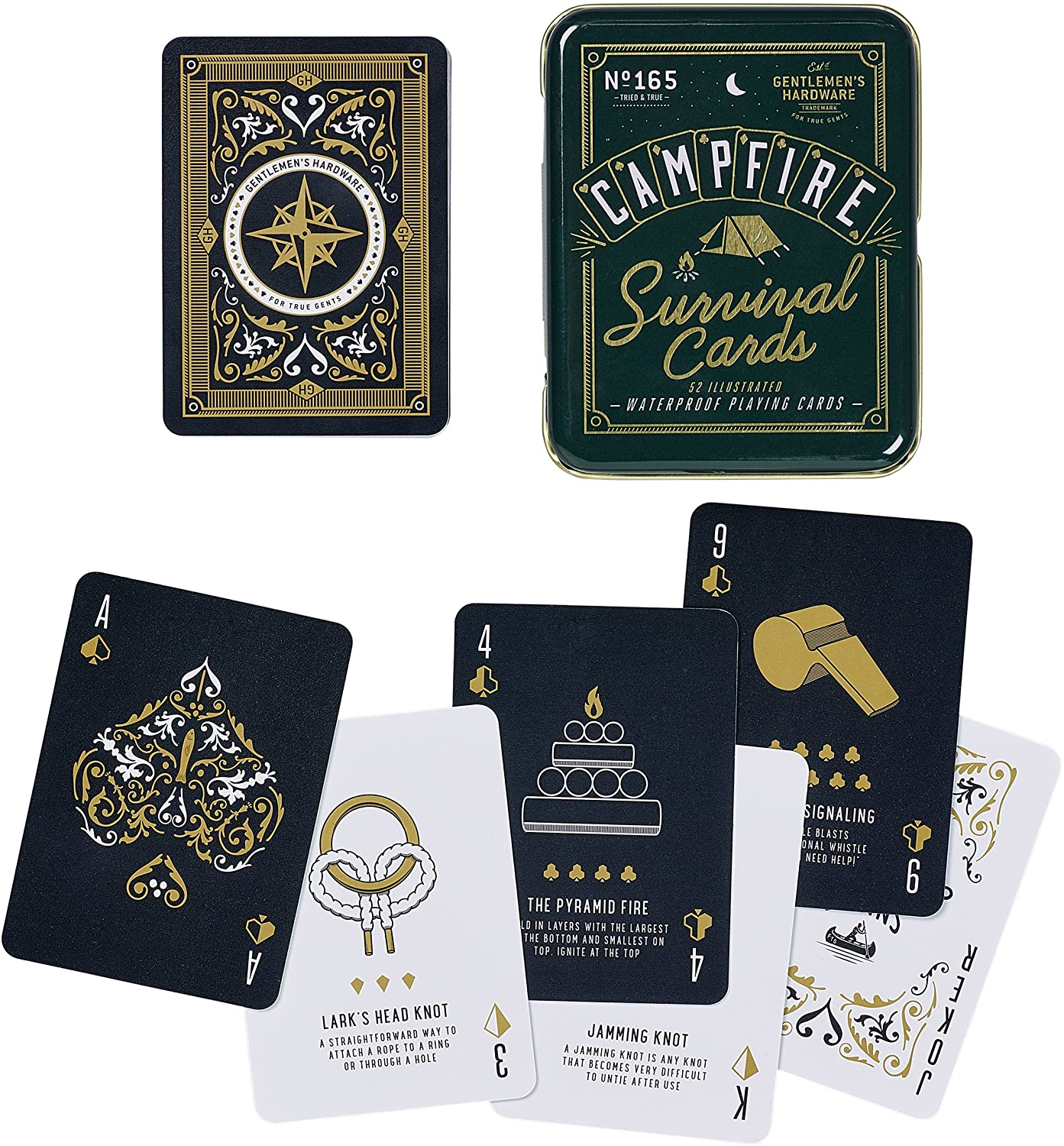Gentlemens Hardware Campfire Survival Travel Playing Cards Set