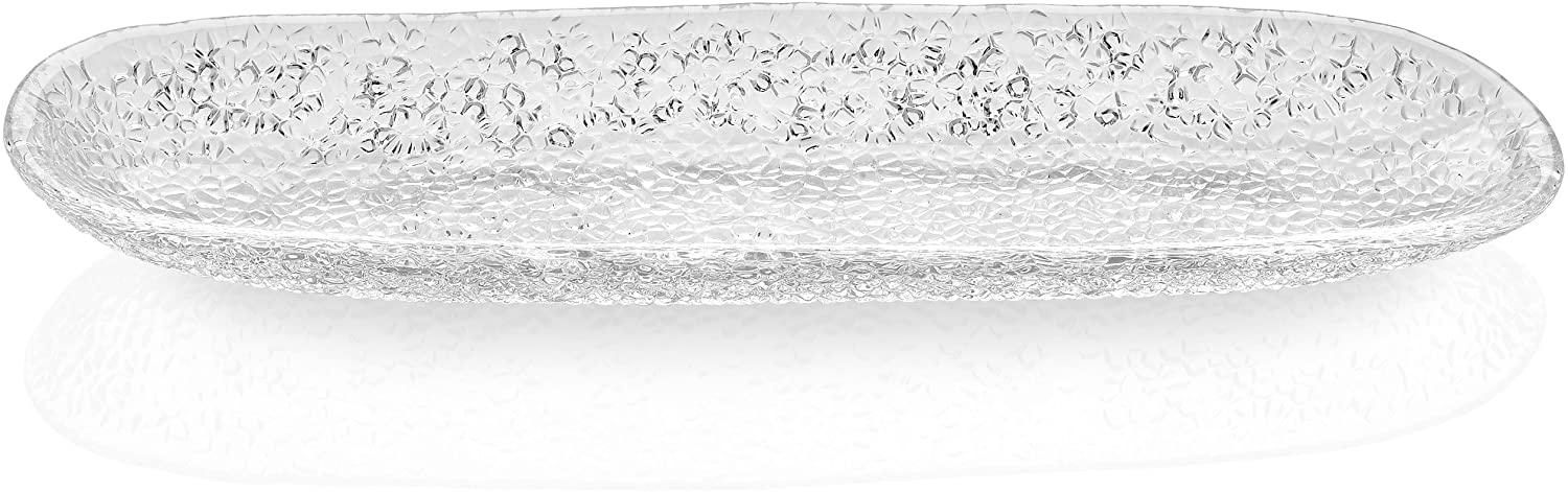 IVV Glassware Special Oval Breadstick Tray, 17 by 4-3/4-Inch, Clear