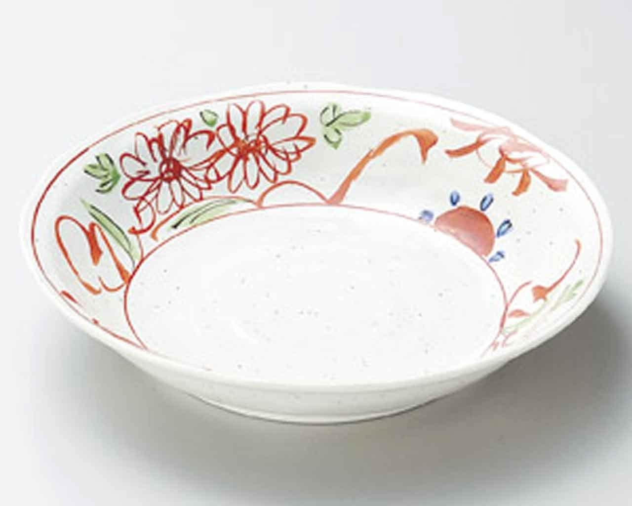 Kobiki Akae 8.5inch Set of 5 Medium Plates White porcelain Made in Japan