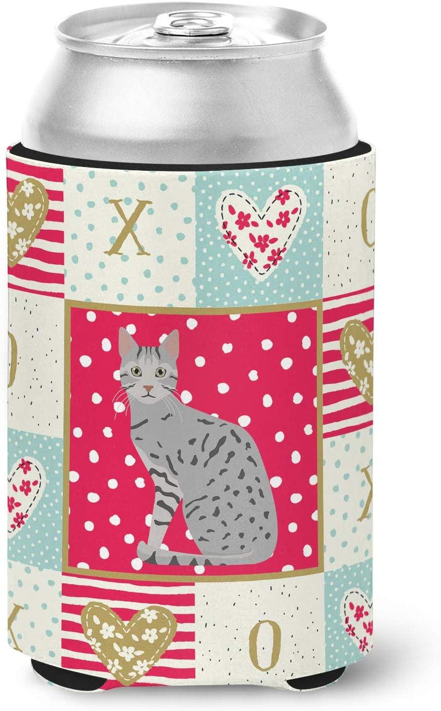 Caroline's Treasures CK5760CC Egyptian Mau Cat Love Can or Bottle Hugger cold-beverage-koozies, Multicolor