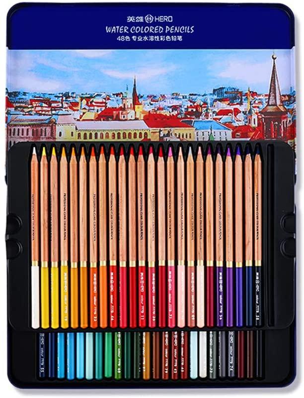 Professional Watercolour Pens, 48 Water-soluble Pencils, Pure Colors, Rich Colors