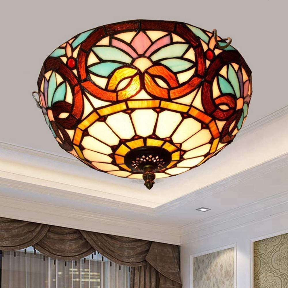 BOSSLV Ceiling Light Retro Minimalism Ceiling Lamp Creative Parlor Bedchamber Dining Hall Study Bar Ceiling Lighting Glass Metal Decorative Indoor Lighting 2E27 38CmH27.5Cm