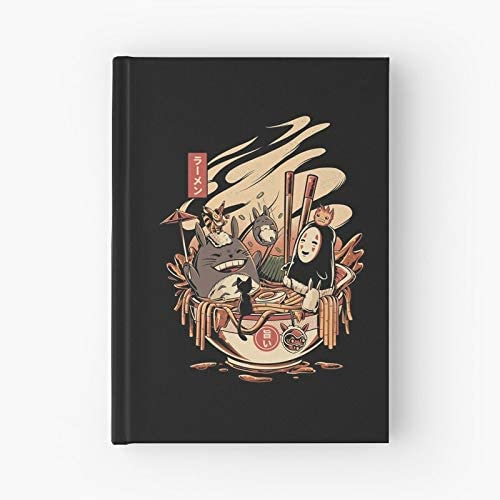 Food Japanese Character Lamen Japan Ramen Anime Hardcover Bound Sketch Notebook With Premium Thick Paper