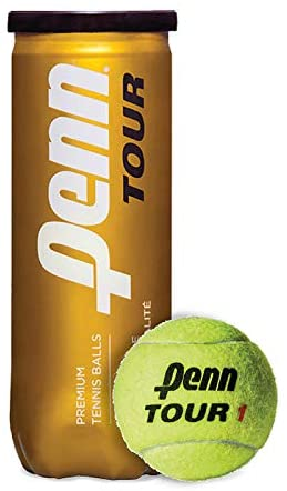 Penn Tour - Extra Duty Felt Hard Court Tennis Ball Cans in Multi-Packs, 3 Balls Per Can (2-24 Cans Available)