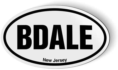 Stickers & Tees BDALE New Jersey Oval - Car Magnet - 5