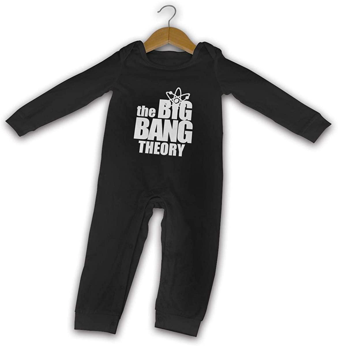 Takeyia Romper Long Sleeve The Big Bang Theory Onesies Black Baby Boy and Baby Girl Bodysuit